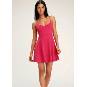 Lulu's Do You Wanna Dance Magenta Pink Dress